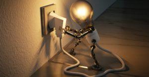робот лампа