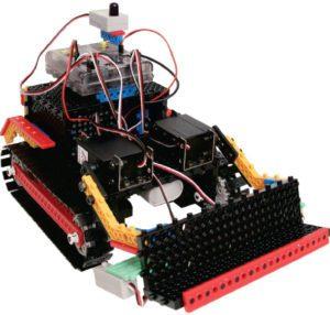 модель бульдозера из образовательного конструктора